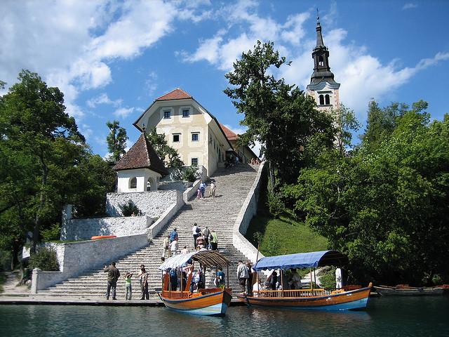 nager à bled en Slovénie