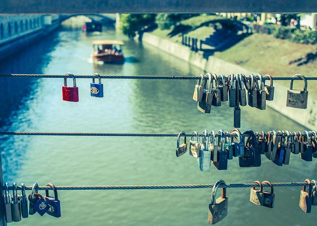 pont avec cadenasLjubljana