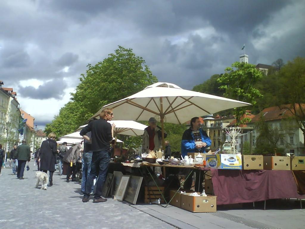 marché antiquités Ljubljana