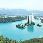 Un immense hôtel sera construit au milieu du lac de Bled en 2016