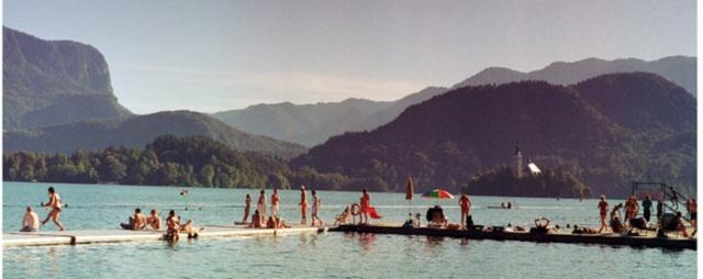 lac bled se baigner slovenie
