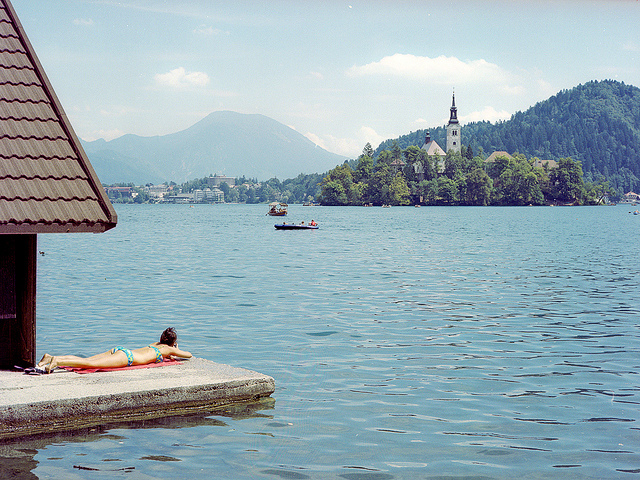 vacances au lac de Bled en Slovénie