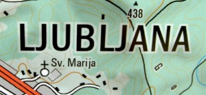 carte de Ljubljana en slovènie