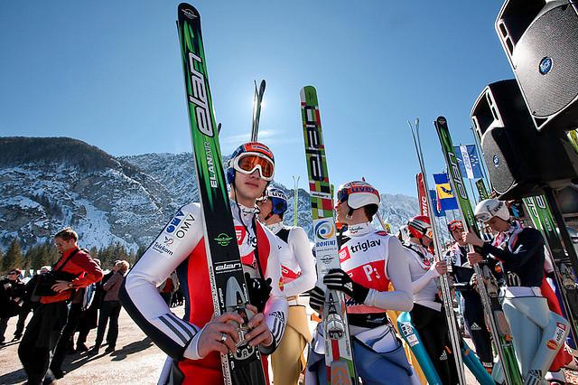 vol à ski slovenie