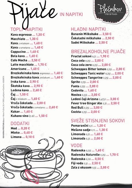 les prix dans les bars slovénie
