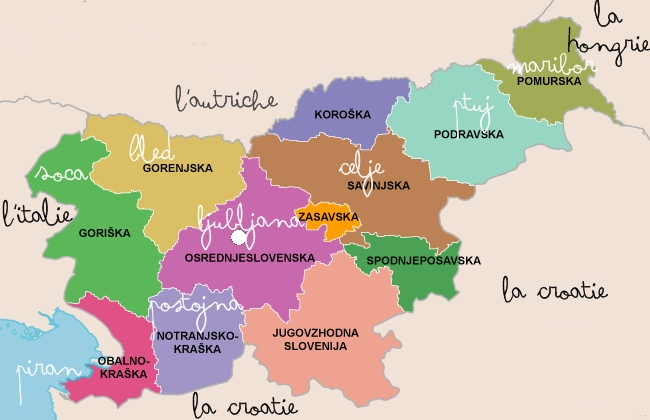 régions slovenie