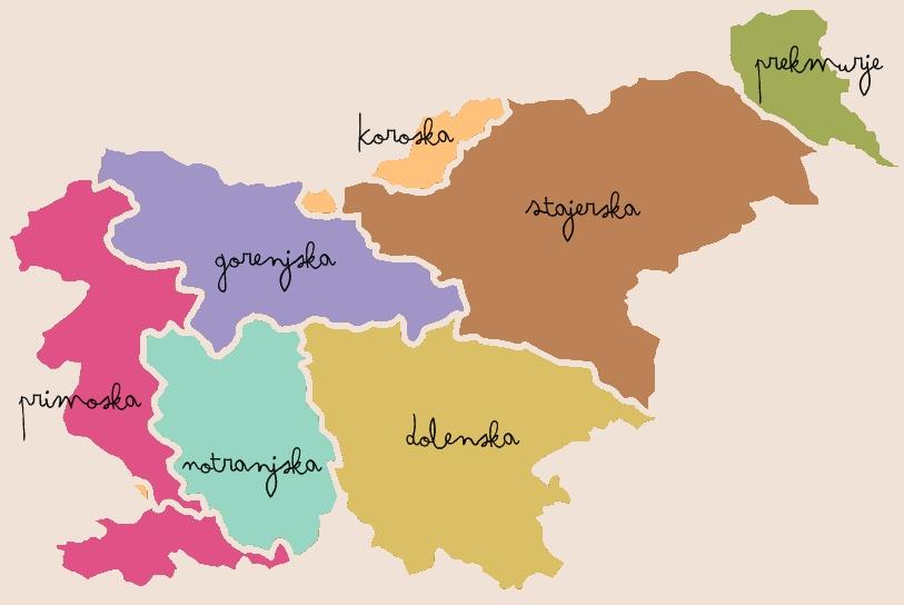 carte régionale slovenie