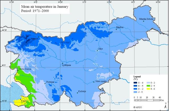 hiver climat slovénie