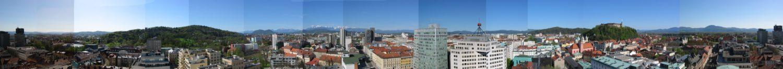 Ljubljana vue de Neboticnik