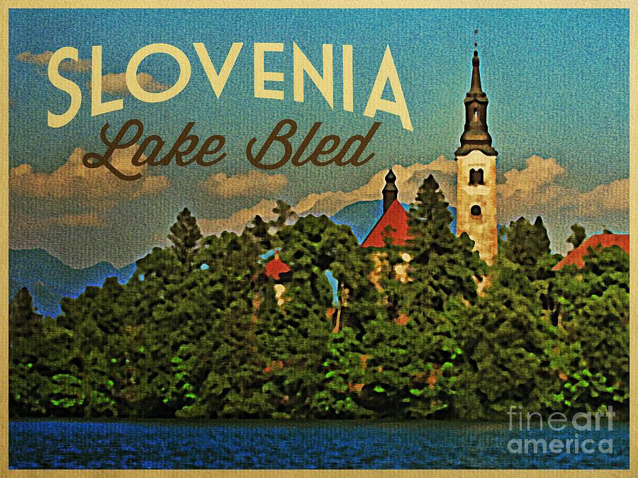bled lac slovénie affiche