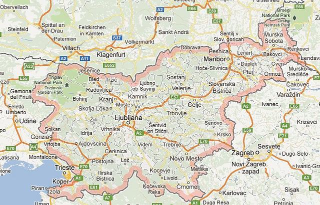 Les autoroutes en Slovenie