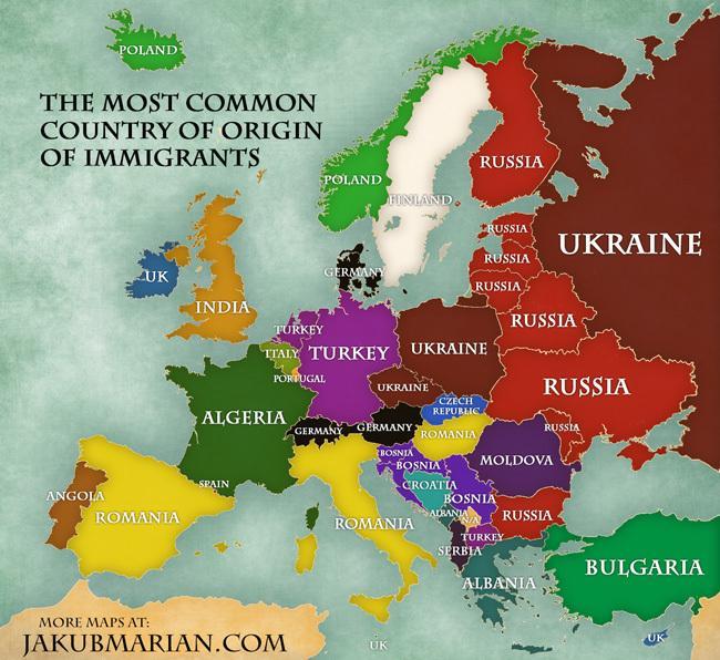 carte immigration slovénie
