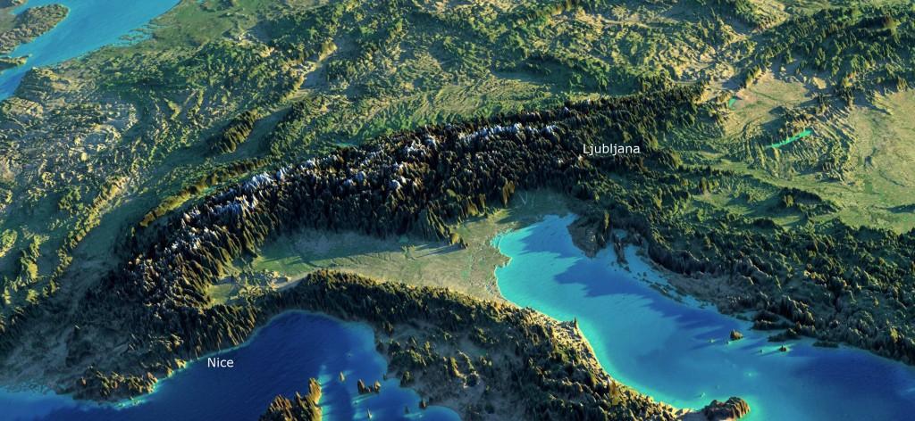 alpes juliennes carte