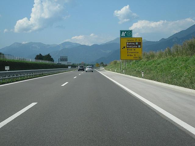 slovénie route