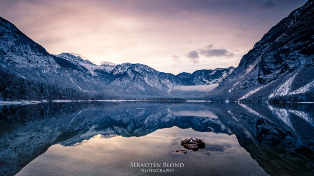 lac de bohinj hiver