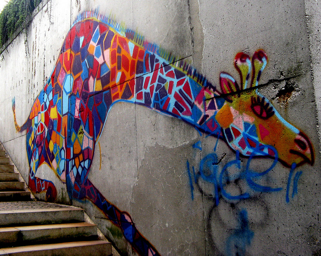 street art girafe