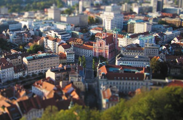Ljubljana vu du chateau