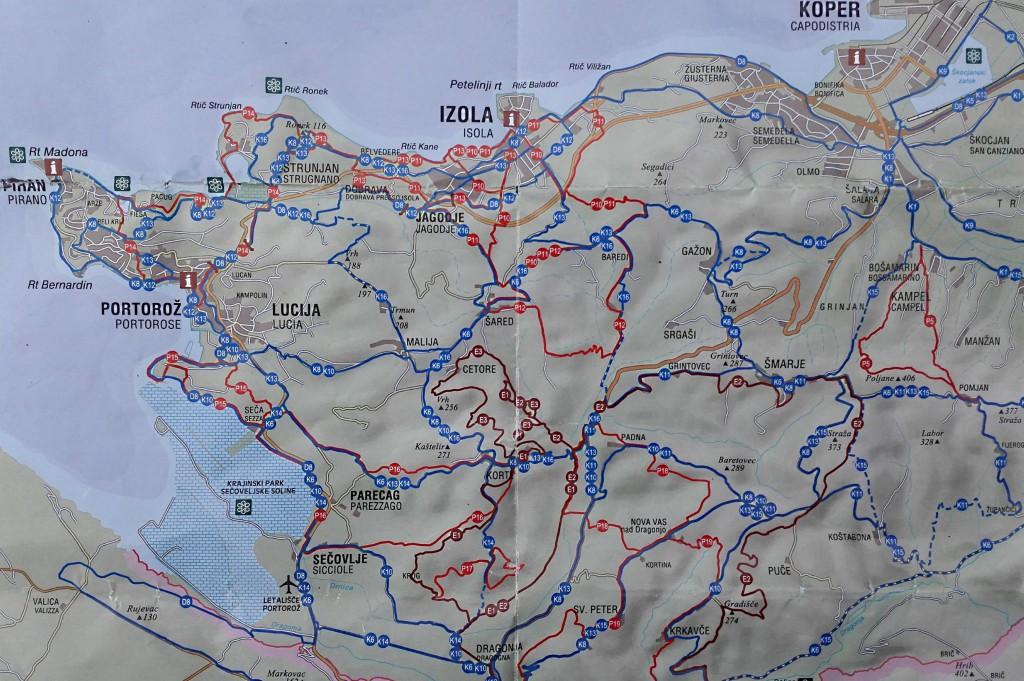 ballade vélo slovénie mer