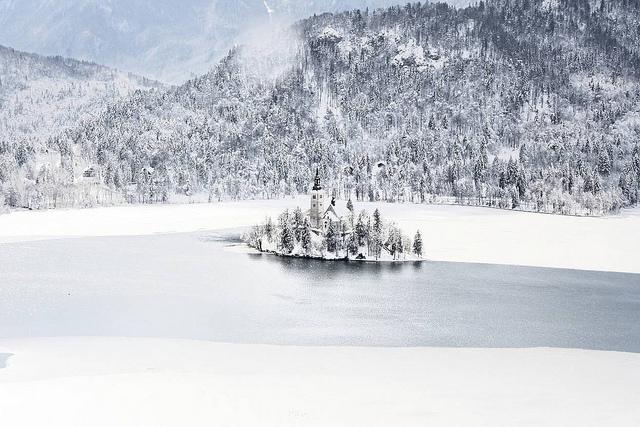 lac de bled hiver