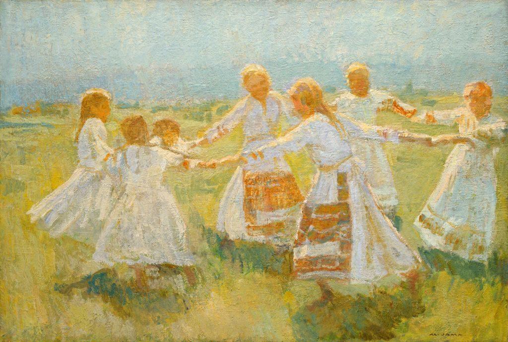 peinture danse folklorique slovène