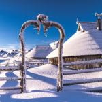 Seuls au monde à Velika Planina en hiver